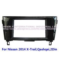 2 Din Car Audio Frame,Dash Kits, DVD Panel,Fascia, Adaper Kit, Radio Frame,Facia for Nissan 2014 X-Trail/Qashqai Double Din
