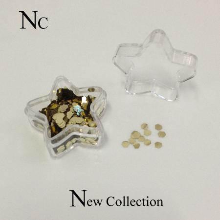 Nail Art Laser Gold Nail Glitter Spangles Dazzling Shape 3D Plastic Glitter Dust For Nail DIY Decoration ZC018(China (Mainland))
