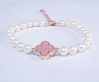 6-7 mm natural freshwater pearl jewelry ms rose gold buckle Hand catenary
