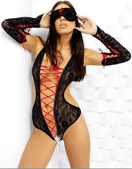 New Arrival 2014 Hot sexy fashion Black lace and mesh toy WS68883(China (Mainland))