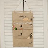 Zakka things classic multi-layer bag hanging wall storage bag organizer