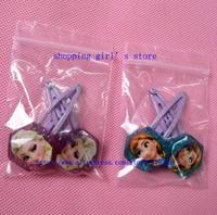 In Stock Frozen hair clips 2014 new Princess Elsa Anna girls cartoon hairpins kids hair accessories metal hair claws Headwear