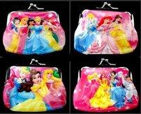 Princess PVC Hasp coin purse, cartoon wallet, boys wallet/ cartoon purse/ coin bag