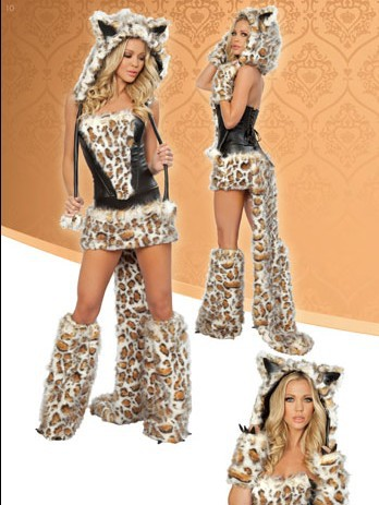 Sexy Cat Woman Bunny Cat Cosplay Leopard Lady Cheshire Cat costume SW8801(China (Mainland))