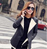 new Fashion winter women's clothing fur leather jacket women leather coat leather jackets jaqueta couro