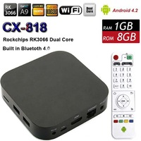 HOT!!! CX818 RK3066 Dual Core Android 4.2 TV Box 1GB RAM 8GB ROM WIFI HDMI Smart TV Stick Multimedia Player XMBC Set-Top Box
