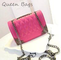 Top selling 2014 Women Vintage plaid Handbag High quality Shoulder Bag Popular chain Shoulder Bag 6Color  S4248