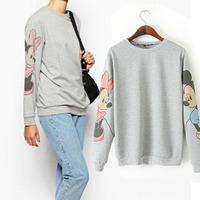mickey sweatshirt pull over long-sleeves long sweatshirts women velour tracksuit ladies hooded jacket sweat suits women coat