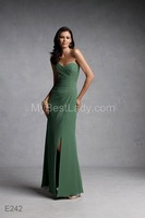 Sexy Open Split Sweetheart Crystal Top Floor Length A Line Mother of the Bird Dresses Custom Made 2 4 6 8 10+ Style:E242