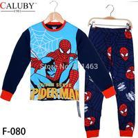 new 2014 big boys long sleeve spiderman clothing set / kids clothes set / children sleepwear