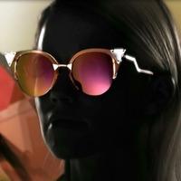 2014 summer new arriver stone diamond decoration women cat eye sunglass retro design oculou de sol gafas