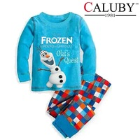 new 2014 children big boys  long sleeve frozen Qlaf clothing set / kids sleepwear / 5 sets/lot, size 140-160