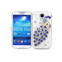 Clear back cover Bling Diamond peacock cover case for Samsung Galaxy S3 mini I8190 S4 mini I9190