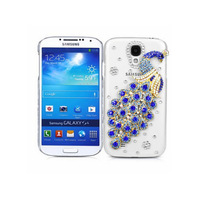 Clear back cover Bling Diamond peacock cover case for Samsung Galaxy S3 mini I8190 S4 mini I9190