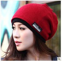 New 2014 Women's Beanie Knitted Caps Scarf Dual Purpose Winter Casual Cap Crochet Hats Men Skullies&Beanies Woolen Hat Unisex