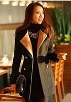 New Korean professional color matching slim slim tie coat coat girl