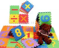 Promotion Eco-friendly 16 pcs/ Lot Maths Digital Foam Puzzles EVA Floor Mats Kids Puzzle Patchwork Floor mats EDD001