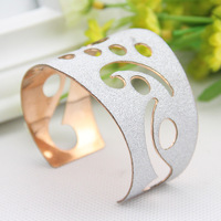 #432 New Design Hot Sale Fashion Euro-American Personality Frossted Bracelet Opening Metal Bangle Wholesale 10PCS/LOT