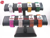 girl crystal bracelet 2014 valentine day gift fashion rhinestone bracelet jewelry assorted colors