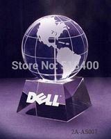 best quality new design best selling crystal globe award crystal globe trophy