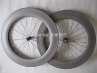 23mm width 88mm carbon wheelset tubular, super light full carbon fiber road bike wheels 700c with Powerway R13 hub+CN spokes