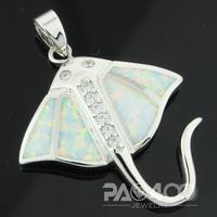 White Fire Opal Silver Fashion Jewelry Women & Men  Pendant OLP011B  Wholesale & Retail