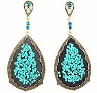 New Arrival Unique Bohemian Beads Handmade Luxury Ethnic Dangle Earrings. Wholesale Female Jewelry Accessories