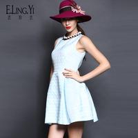 2014 fashion elegant slim sleeveless vest dress female