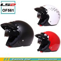 100% Genuine Retro Cycling Helmet Motorcycle Jet Helmets Built-In Len Capacetes Casco Ls2 OF561