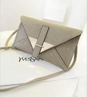 2014 New Fashion Faux Leather Clutch Bag Women Messenger Bag Envolope Bag Designer Brand  Handbags For Lady Evening Clutch