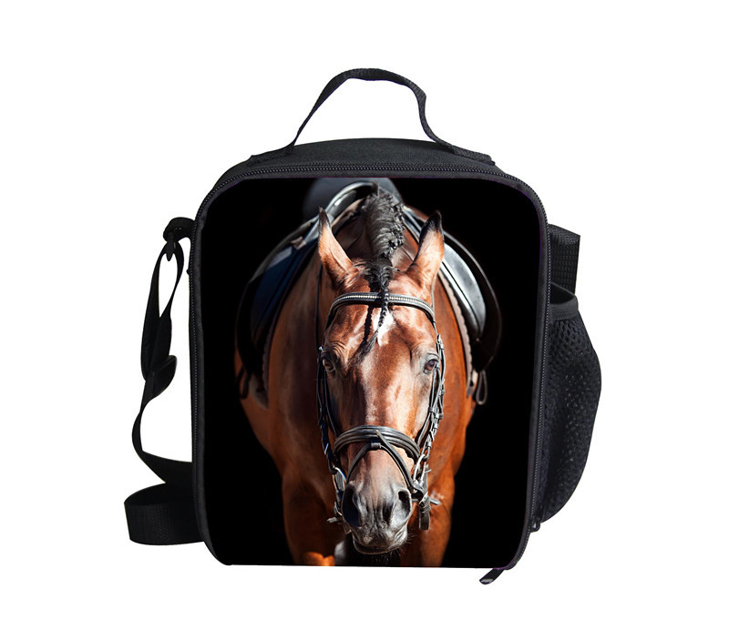 new lunch bag horse 3D design for school kids,fashion zoo lunch bags ...