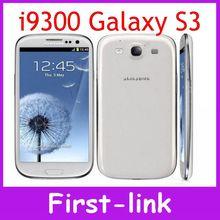 Unlocked Original EU Veision Samsung Galaxy S3 i9300 GSM 3G Quad core 16GB storage 4.8 inch 8MP cell phones Free shipping(China (Mainland))