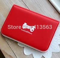 Free shipping 100% cutie ribbon  leather card holder , Wholesale card case wallet   caroline fashion #cc02