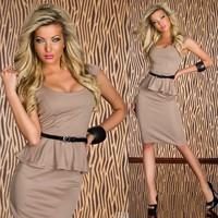 6 Colors 2014 New Summer Dress Women Clothing OL Business Work Wear Knee Length Peplum Dress Bodycon Midi Pencil Dress