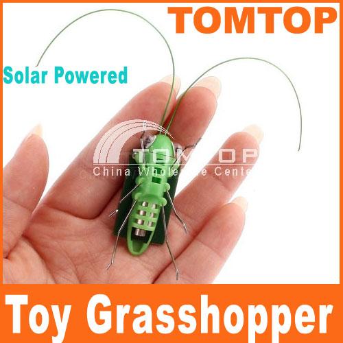 Power Energy Solar Toys Mini Grasshopper For Kids Solar Grasshopper game Fun Bug Robot Toys for children Free Shipping(China (Mainland))