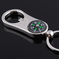 Freeship by EMS wholesale 40pc/lot  Metal handicraft ornament alloy compass blank beer bottle opener keychain promotion gift