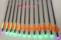 archery hunting lighted LED arrow nocks for compound bow arrow ,red or green For Arrow Shafts Hunting