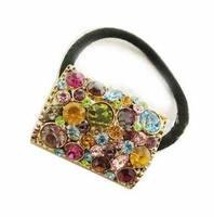 +++AAA Nice Fashion Korean Patchwork Color Rhinestone Elastic Hair Bands Accessories Women SFC003
