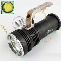 Free shipping Cree R5  800 Lumens  LED Flashlight Torch 3-Mode +2x18650 3.7V +  AC Charger 1PCS  NEW