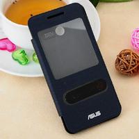 Zenfone 4 windows Flip case,S View Flip Leather Case battery housing For ASUS ZenFone 4 retail box 10pcs/lot +  free shipping