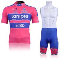 5XL Men's Cycling Suit CLASSIC LAMPRE ISD RED Maillot Short Sleeve Bike Jersey + Bib Shorts with Gel pad Quick Dry tights