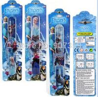 Cartoon Frozen Princess Anna Elsa Olaf Slap Watch Kids Snap Digital WristWatch Children Gift with packaging free shipping 200pcs