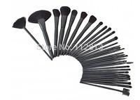 Big Discount ! 32pcs 32 pcs Cosmetic Facial Make up Brush Kit Makeup Brushes Tools Set + Black Leather Case ,Free Shipping