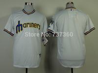 accept drop shipp. stitched cheap Seattle Mariners blank throwback Baseball Jersey blank baseball shirt