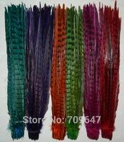 """Pheasant Tail Feathers,100pcs/lot/colour-18-20"""" 45-50cm Dyed Ringneck Pheasant Feather Tails,7Colours for Choice!"""