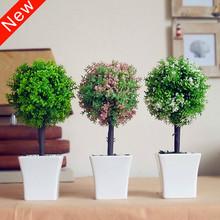 O envio gratuito de plantas árvore artificial bonsai grama vasos de flores plantas artificiais artesanato decorações de casamento decoração de casa(China (Mainland))