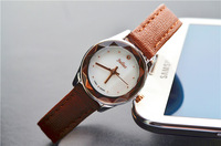 Authentic Julius Women's Fashion Watch Round Cutting Case Shell Dial Genuine Leather Strap Simple Retro JA-723