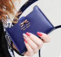 2014 Korean fashion cute purses bow coin purses free shipping W102