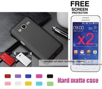 100% 1x Matte Plastic hard case cover+2x clear screen protector lcd film For Samsung Galaxy core II 2 Core2 G355H G3559