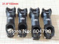 31.8x100MM diameter clamp length MTB mountain road bike bicycle handlebar stem black new